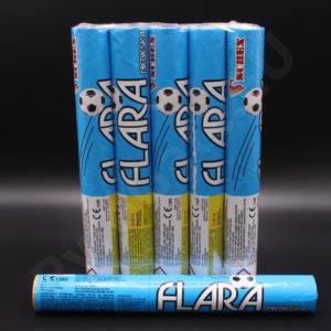 Big football flares BLUE