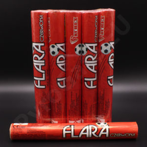Big football flares RED